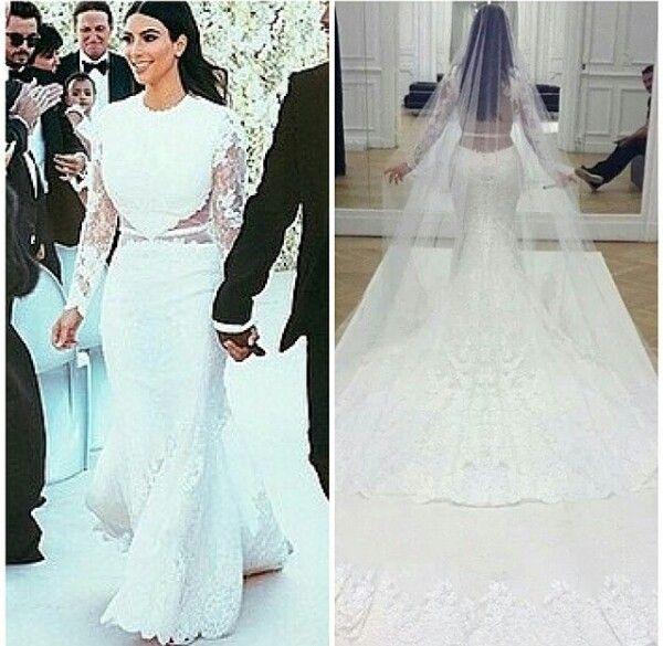 Kim Kardashian Wedding Dress Givenchy Kim Kardashian