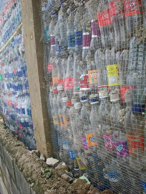 Students Build a School from Waste Products