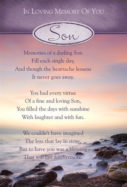 Loving Memory Son Poems You