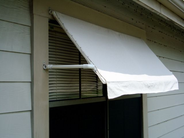 Diy awning diy projeckts pinterest for Pvc pipe shade