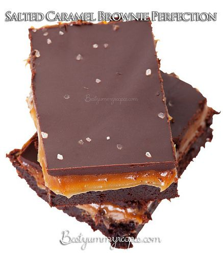 Salted Chocolate Caramel Brownies | Recipes to try - Sweets ...