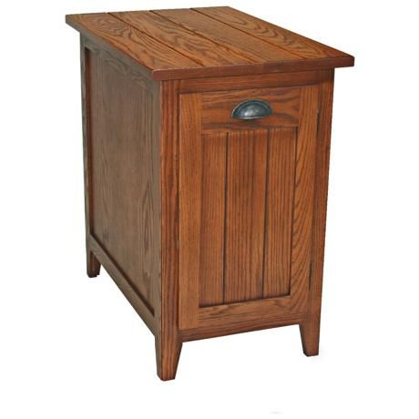 Leick Furniture Shaker Style Bin Cabinet End Table
