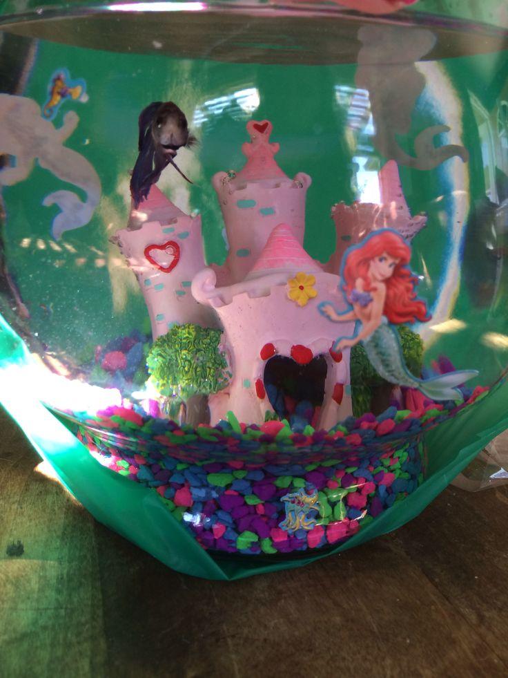 Pin little mermaidfish tank birthday cake flickr photo for Little mermaid fish tank decor