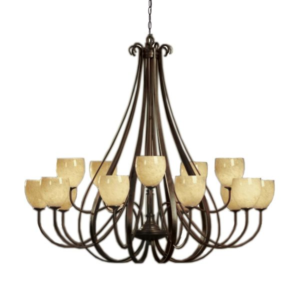 Hubbardton Forge Sweeping Taper: Sweeping Taper Chandelier - Large
