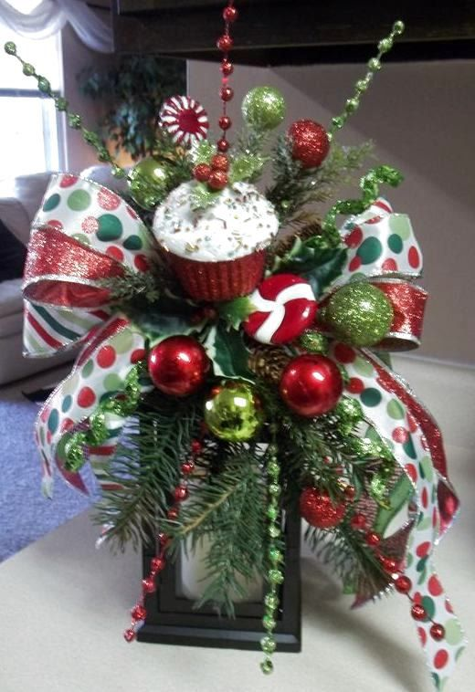 Sweets amp treats decorative christmas winter holiday swag bow