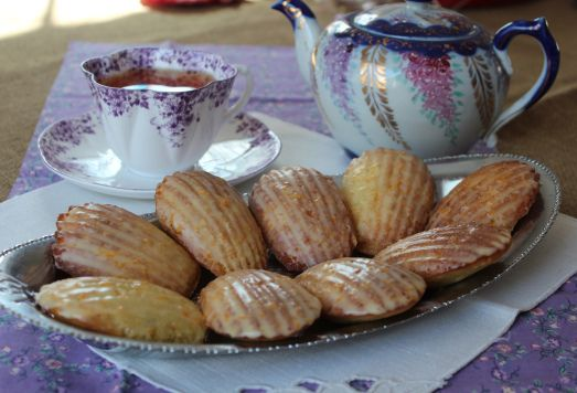 Orange cardamom Madeleines, a light and tasty tea-time treat.