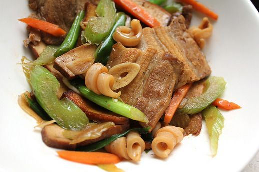 Hakka-Style Stir-Fry with Pork and Squid - make with @scatuesday!