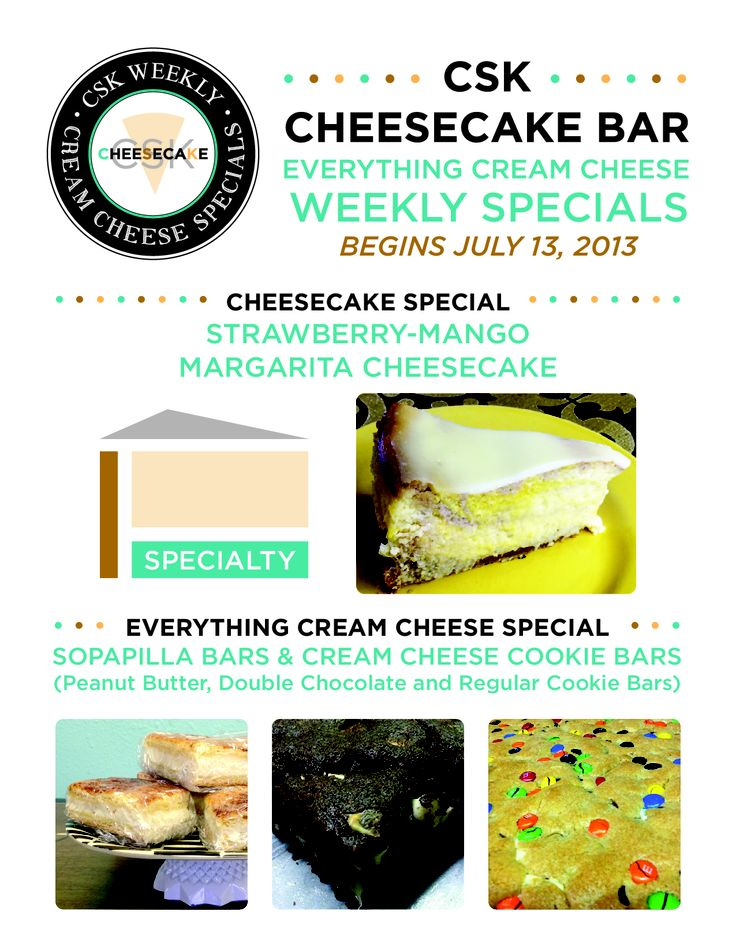 ... by Chestnut Street Kitchens Cheesecake Bar! on Weekly Everything