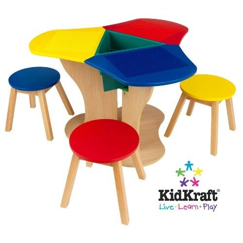 Kidkraft Activity Center With Stools Lego Theme Pinterest