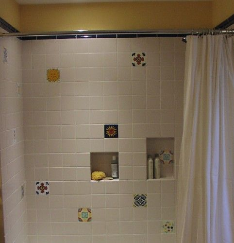 mexican tiles in shower new mexico home amp garden pinterest