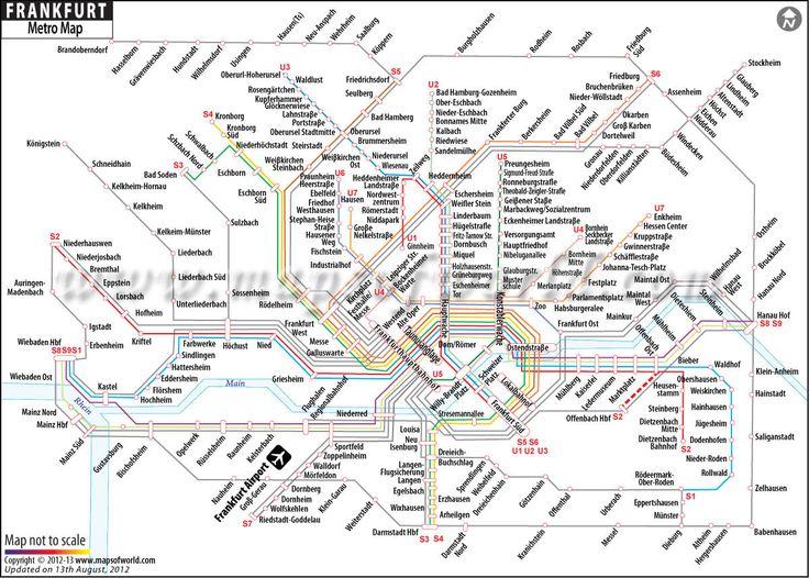 Frankfurt Metro Map  Art Amp Crafts Amp DIY  Pinterest