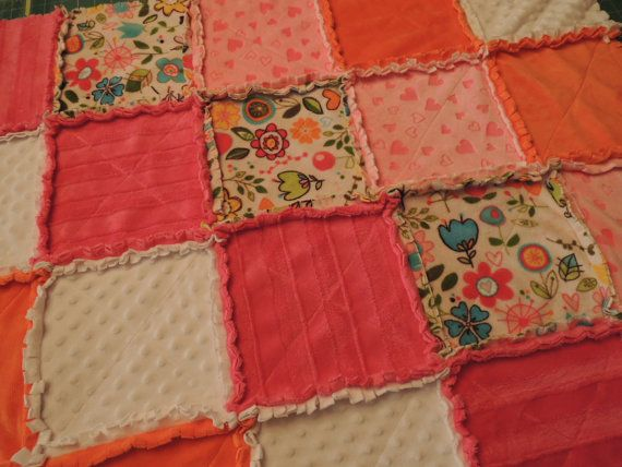 Easy Rag Quilt Pattern Easy Instructions with Photos, Tutorial, pdf file, Download thru Etsy