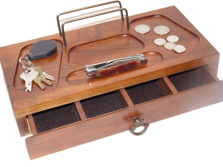 Best Vintage Mens Dresser Top Valet Jewelry Box By 400 x 300