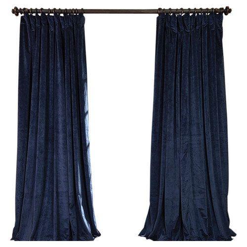... Half Price Drapes Signature Double Wide Velvet Rod Pocket Curtain