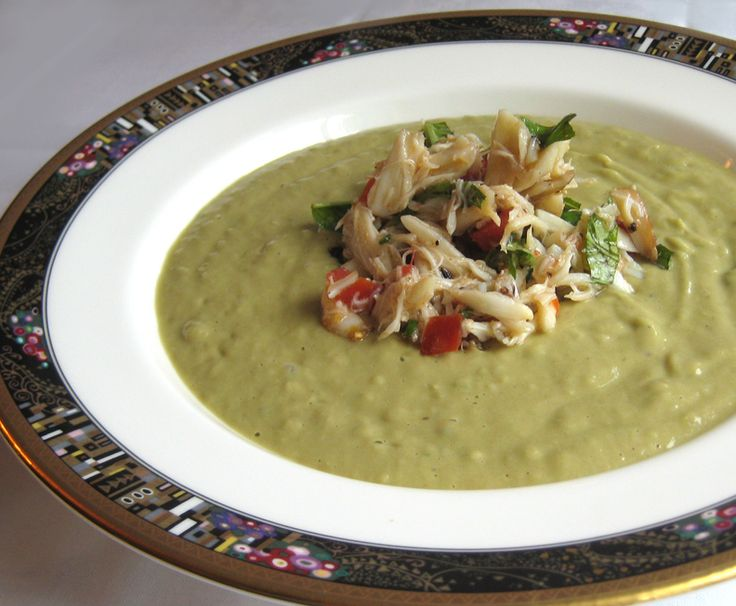 Avocado Soup and Crab Salad | SOUP RECIPES YUMMY | Pinterest