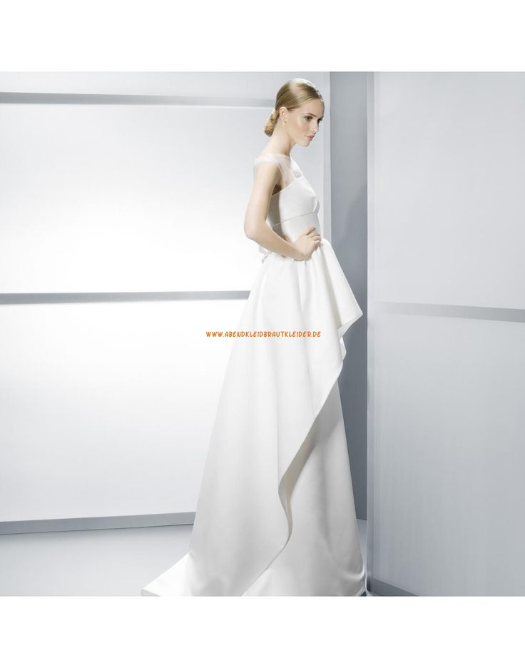 ... kurze Ärmel gestupfte Hochzeitskleider aus Satin- Jesús Peiró