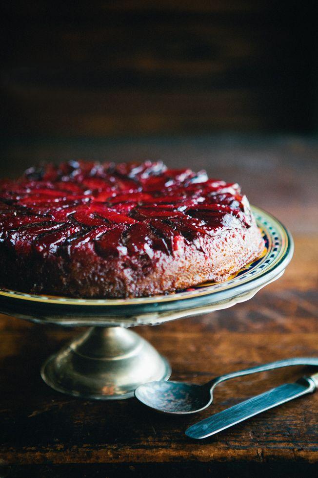 Upside Down Plum Cake | Sweets -Whole Cake- | Pinterest