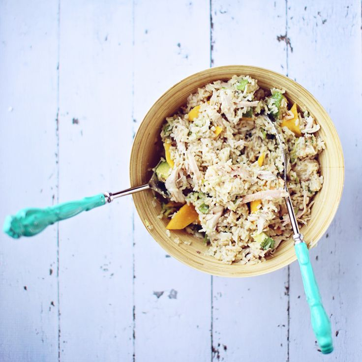 coconut mango rice salad2 mango chicken amp brown rice salad with ...