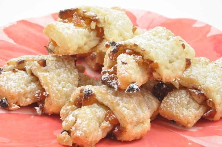 Rugelach Cookies - A traditional Jewish dessert. Rolled cookies with ...