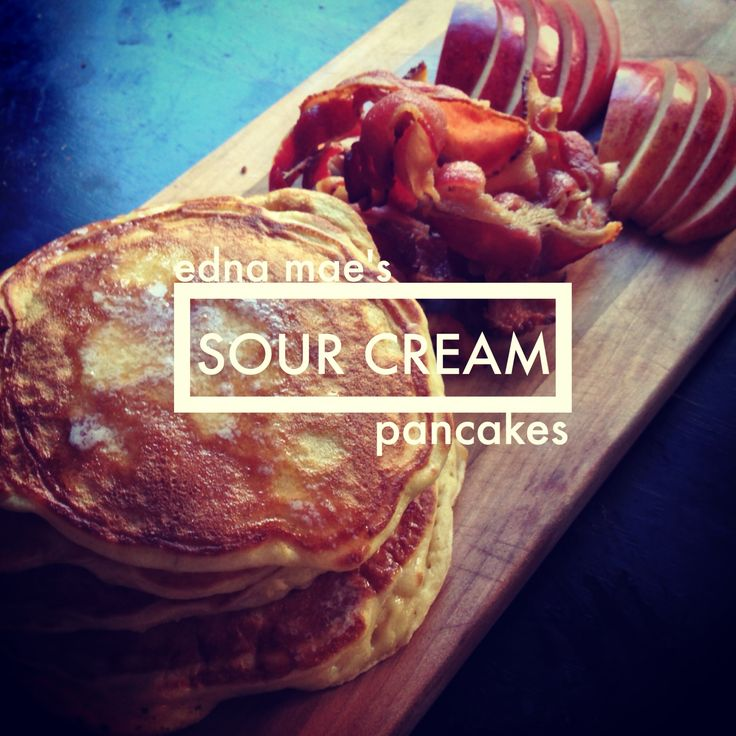 the pioneer woman's Edna Mae's sour cream pancakes.