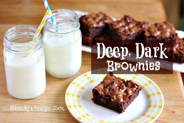 Mandy's Recipe Box: Deep, Dark Brownies | Brownies | Pinterest