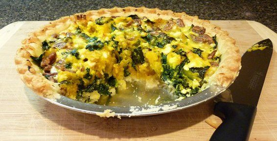 Roasted Kabocha Squash and Kale Tart (skip the pie crust and just have ...