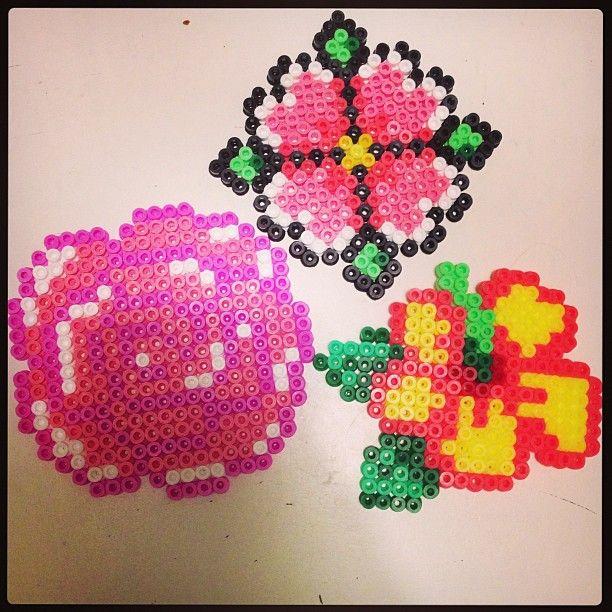 flowers hama perler by pagey163 perler