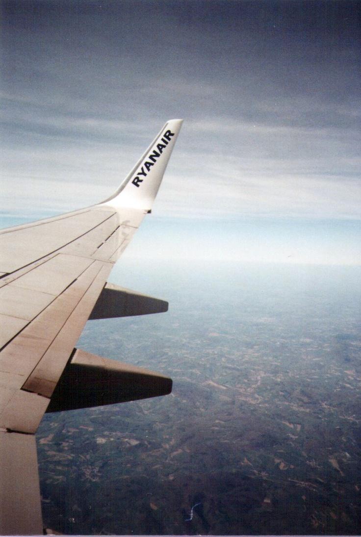 skrzydło samolotu Ryanair