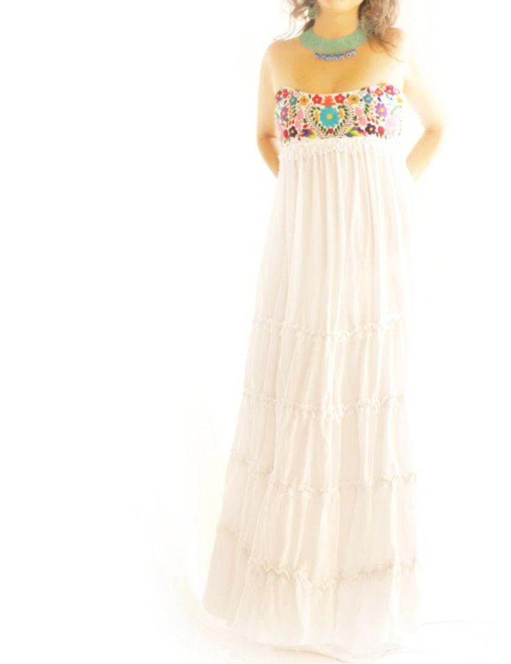 Mexican wedding dress j d pinterest for Dresses for mexico wedding