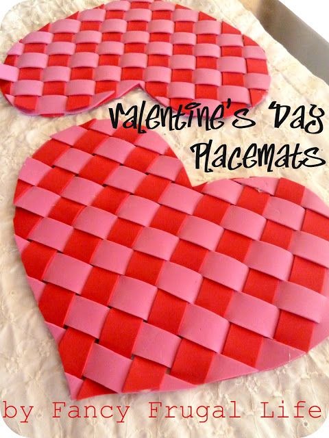 valentine's day placemats and napkins
