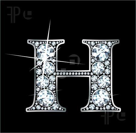 U Alphabet In Diamond Illustration of A stunningly beautiful