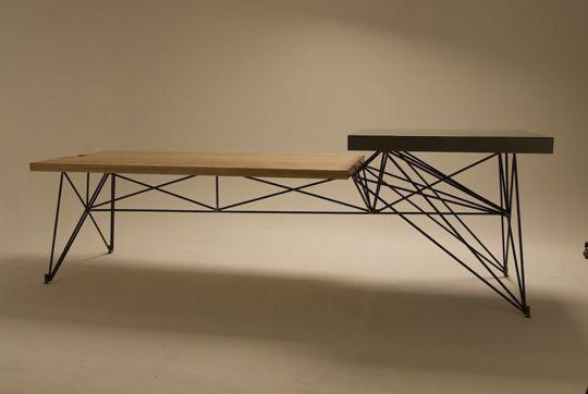 Wood Concrete Steel Furniture Pinterest