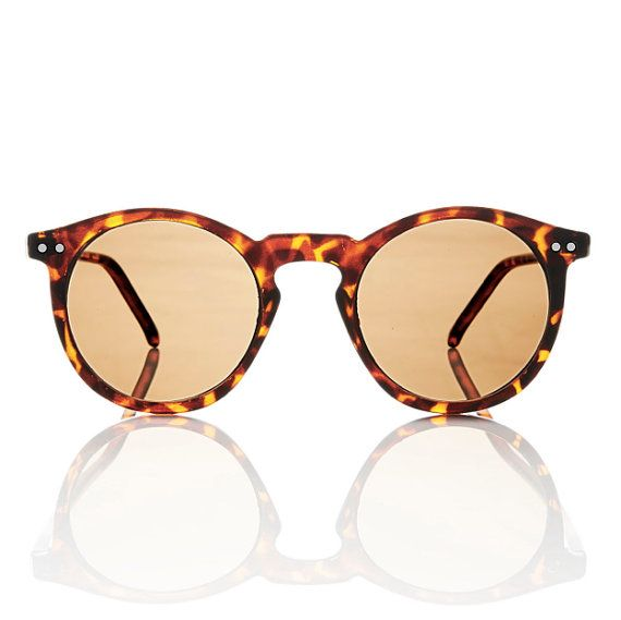 Mens Round Frame Glasses : Mens Tortoise Round Frame OMalley Sunglasses // Gatsby P3