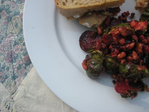 ... Mom: Roasted Brussels Sprouts and Beets with Maple Dijon Vinaigrette