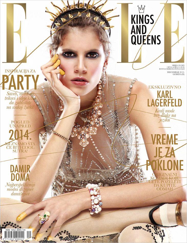 Antonina Petkovic for Elle Serbia by Misa Obradovic