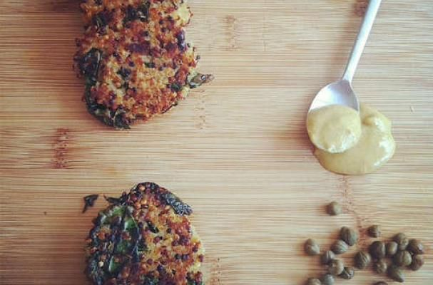 Kale and Quinoa Cakes are a Light Crisp Snack