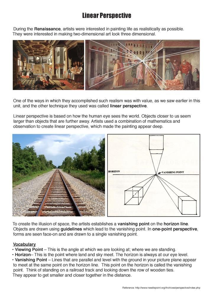 perspective-handout1_Page_1.jpg   Art Teacher Resources   Pinterest