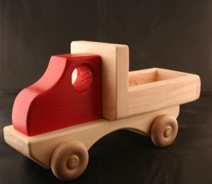 leikkiauto simple toy truck wood materials pinterest