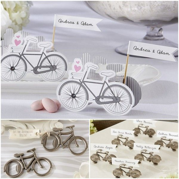 Bicycle Wedding Party Favors from hotref.com