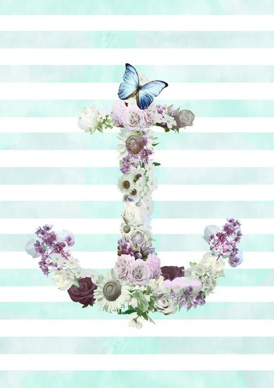 gallery for floral anchor wallpaper