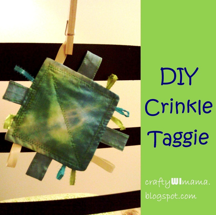 DIY Baby Gift: Crinkle Taggie Toy | Crafty WI Mama, Go To www ...