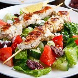 Chicken Souvlaki Salad   It's All Greek to Me!   Pinterest