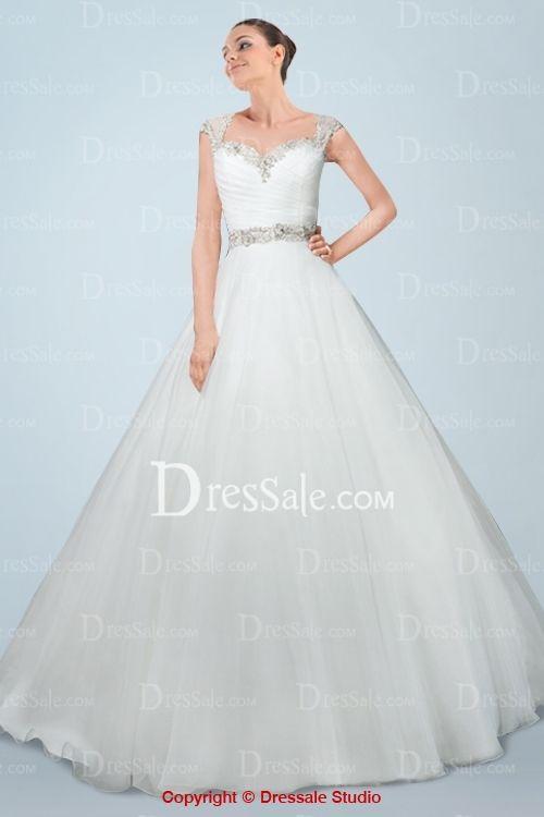 Wedding Gown Queen Anne Neckline Wedding Bells Dresses