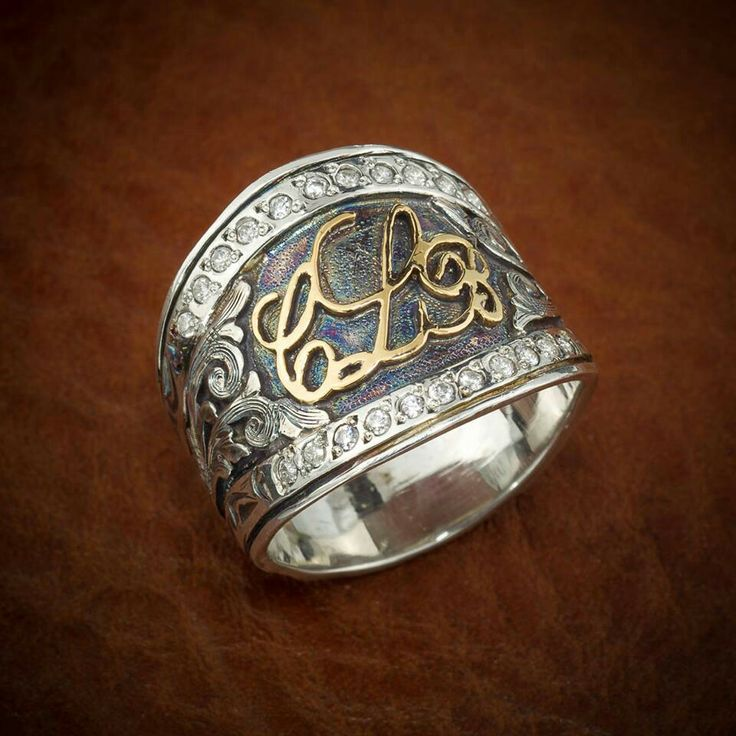 Western Style Monogram Ring Jewelry Accessories Pinterest