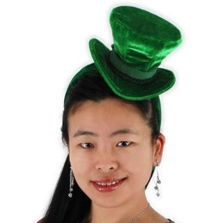Green Cocktail Top Hat Headband | St Patty's Day | Pinterest