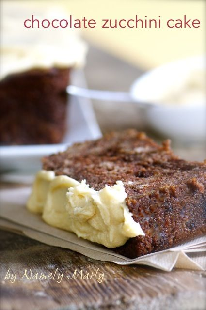 Chocolate Zucchini Cake by Namely Marly #vegan