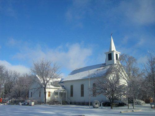 Church in winter  dexter  michigan
