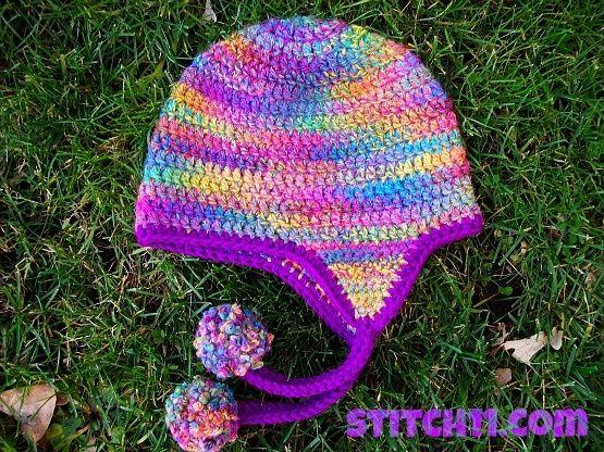 Bulky Crochet Earflap Hat Pattern Free : Curly Q ~ Earflap Hat ~ FREE PATTERN. Crochet!! Pinterest