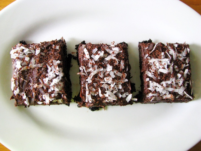 Dark Chocolate And Nutella Coconut Brownies Recipes — Dishmaps