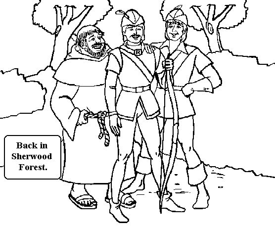 Robin Hood Printable Coloring Pages Kids Colouring